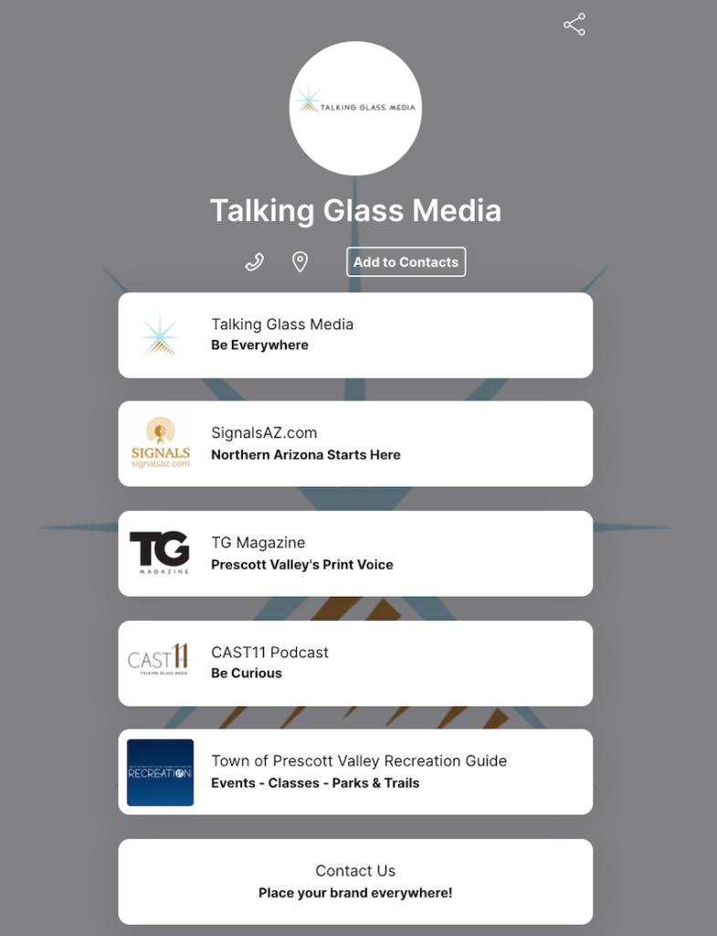 talking glass media qr code flow code